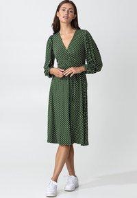 Indiska - SENJA LS - Jersey dress - green - 1