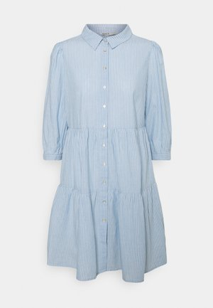 ONLAMARYLLIS DRESS - Shirt dress - blue fog/cloud dancer