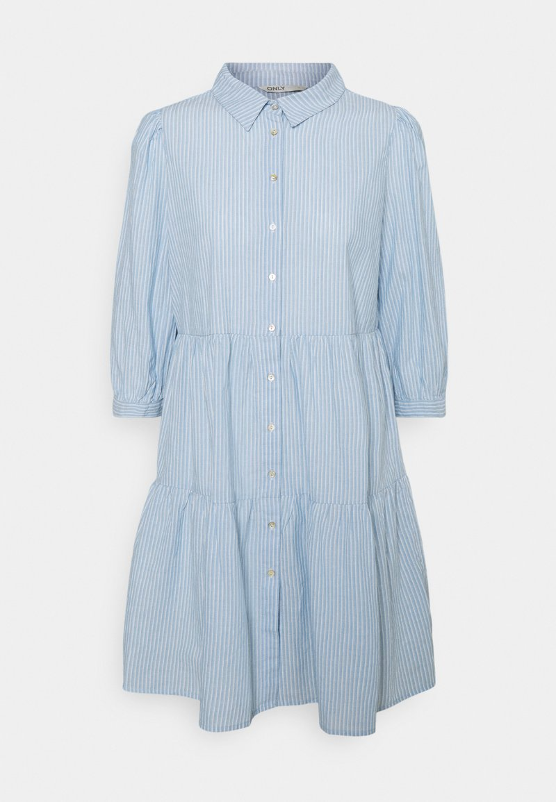 ONLY - ONLAMARYLLIS DRESS - Shirt dress - blue fog/cloud dancer