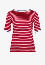 STRIPE TEE - Print T-shirt - dark red