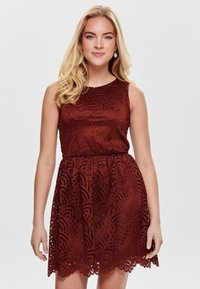 ONLY - ONLEDITH DRESS - Cocktail dress / Party dress - red - 0