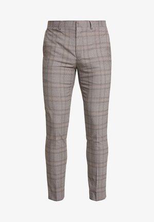RETRO CHECK - Suit trousers - grey