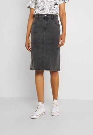 BYKOLKA SKIRT - Denim skirt - mid grey denim