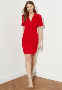 Trendyol - PARENT - Shirt dress - red - 3