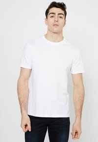 Burton Menswear London - BASIC CREW 7 PACK - Basic T-shirt - black/white/grey - 2