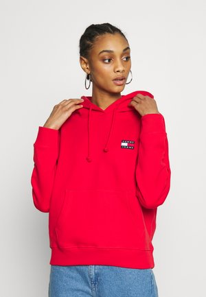 BADGE HOODIE - Sweat à capuche - deep crimson