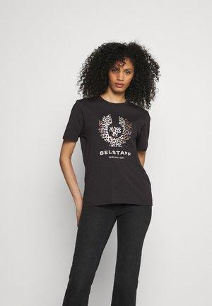 LEOPARD PRINT PHOENIX - Print T-shirt - black