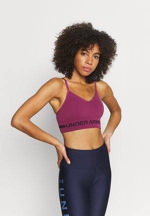 SEAMLESS LOW LONG BRA - Light support sports bra - pink quartz