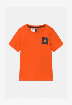AERO UNISEX - Print T-shirt - orange/black