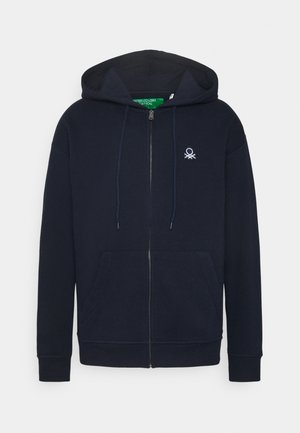 ZIP HOODIE CREW NECK - Mikina na zip - dark blue