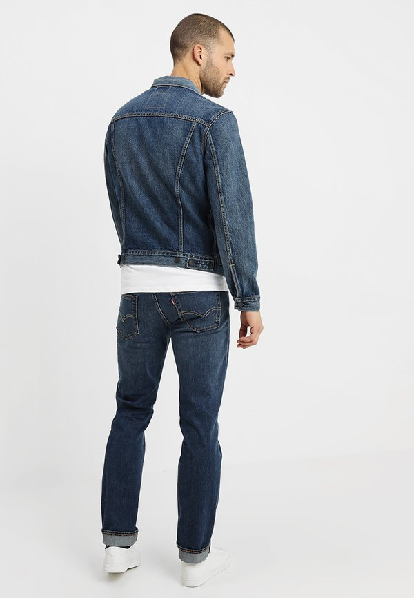 Levi's® THE TRUCKER JACKET - Kurtka jeansowa - mayze trucker/niebieski denim Odzież Męska BHBP