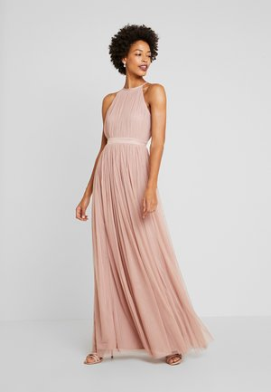 DELICATE HALTER NECK WAISTBAND DRESS - Occasion wear - pearl blush