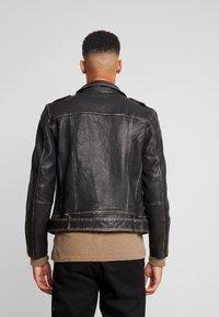 AllSaints - HAWLEY BIKER - Veste en cuir - black - 2