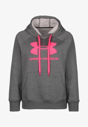 RIVAL  - Hoodie - pitch gray medium heather / pink