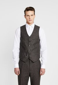 Shelby & Sons - PERRY WAISTCOAT - Chaleco - dark brown - 0