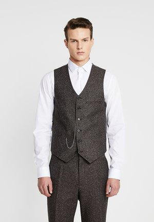 PERRY WAISTCOAT - Waistcoat - dark brown