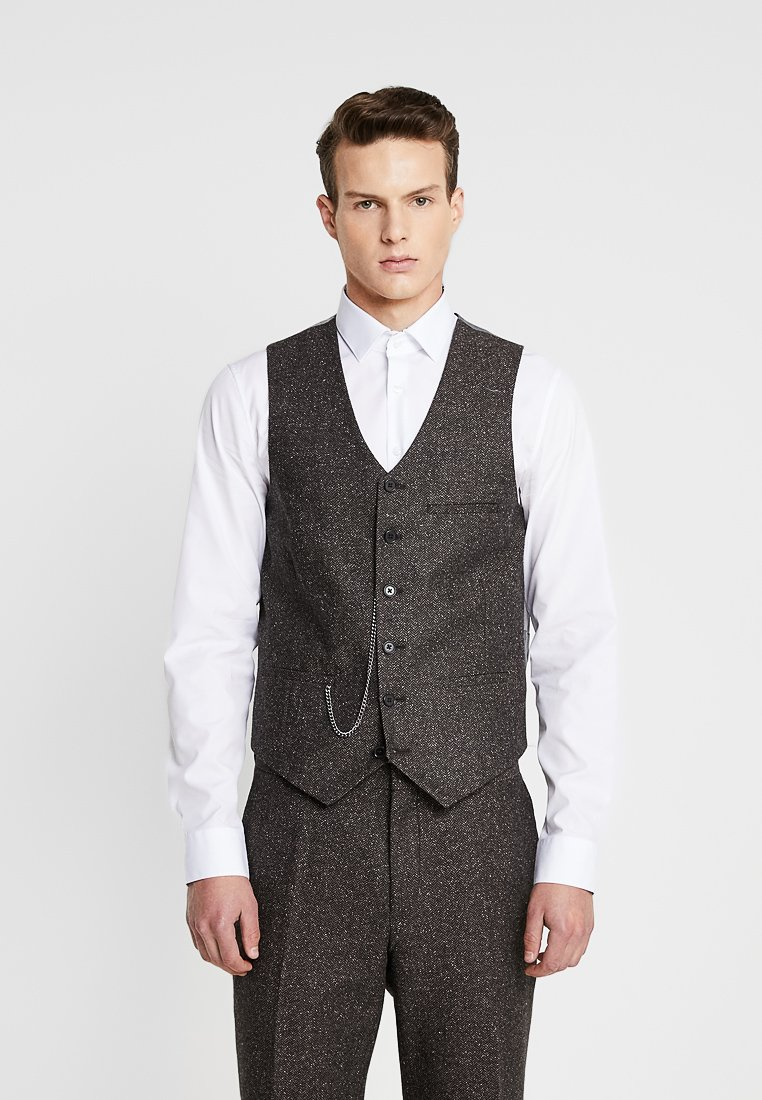 Shelby & Sons - PERRY WAISTCOAT - Chaleco - dark brown