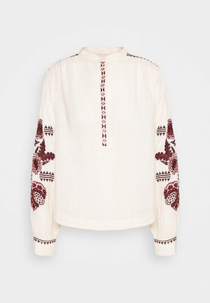 EMBROIDERED TOP WITH VOLUMINOUS SLEEVE - Blouse - ivory