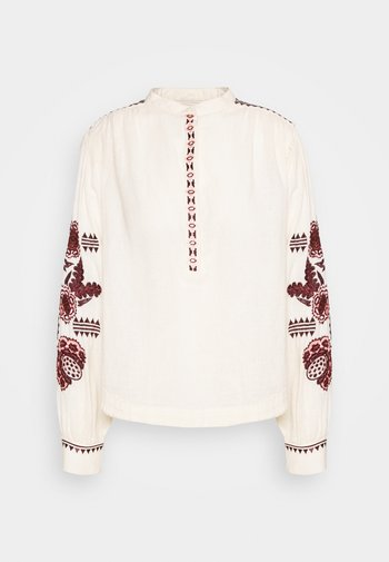 EMBROIDERED TOP WITH VOLUMINOUS SLEEVE