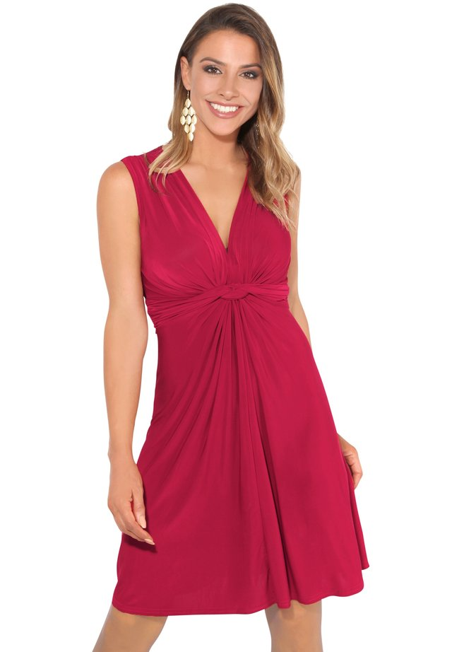 KNOT FRONT SELF - Cocktail dress / Party dress - dark red