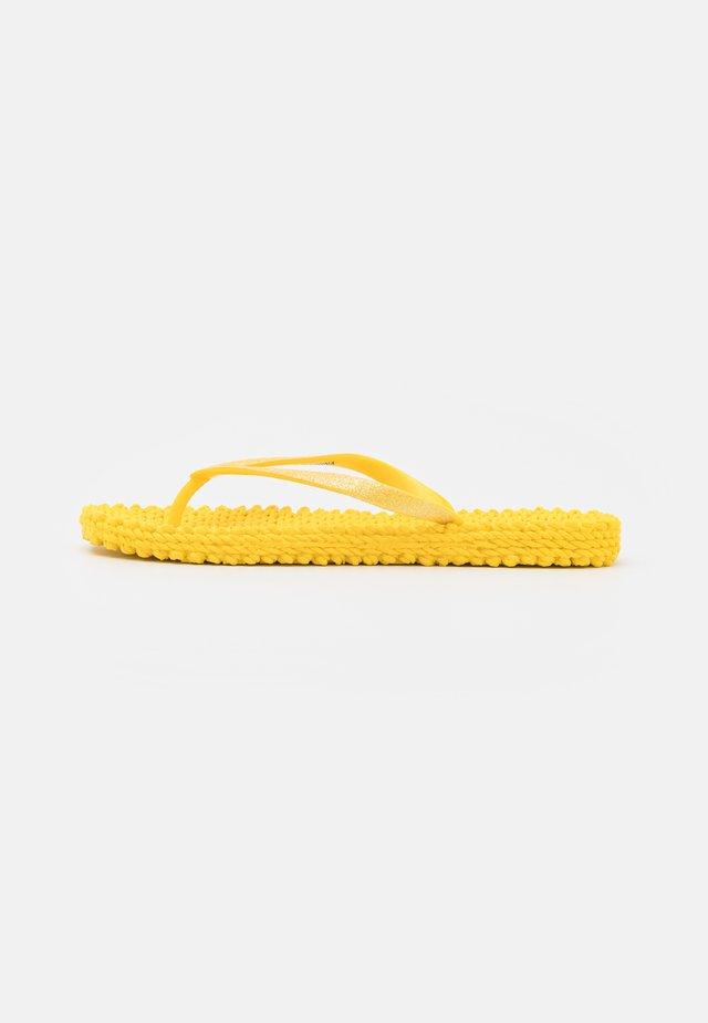 CHEERFUL - Teenslippers - yellow