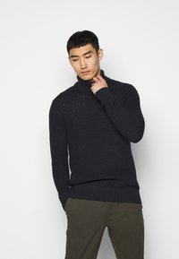 Les Deux - FERDINAND TURTLENECK - Jumper - dark navy - 0