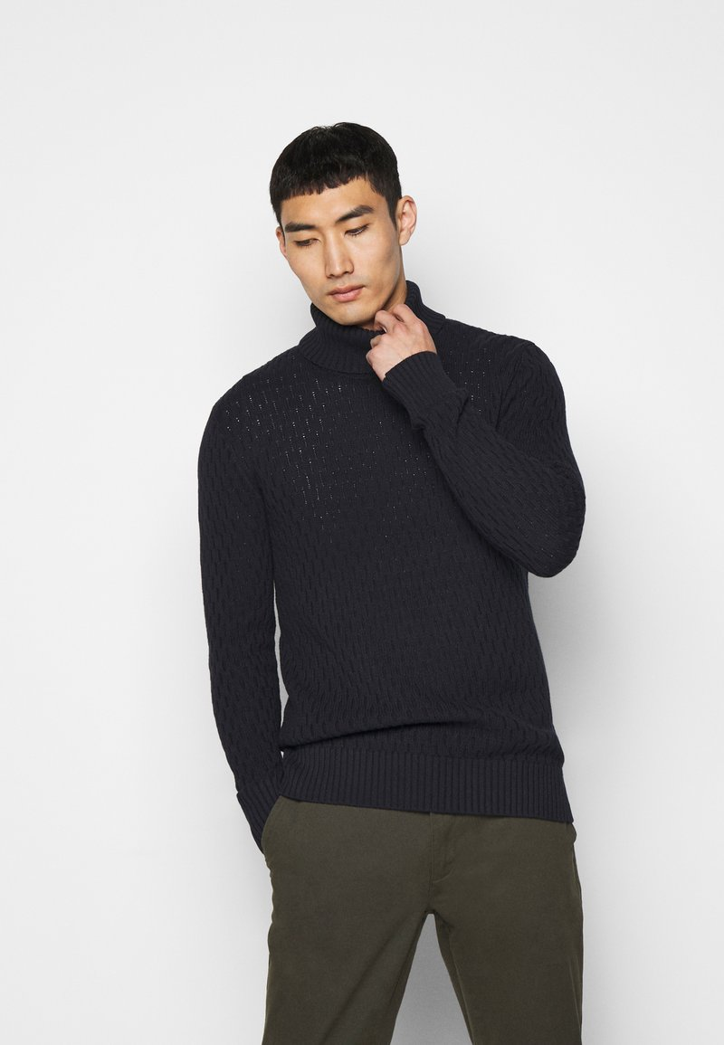 Les Deux - FERDINAND TURTLENECK - Jumper - dark navy