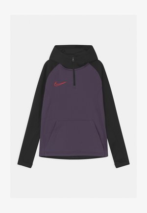 ACADEMY DRIL HOODIE - Sports shirt - dark raisin/black/siren red