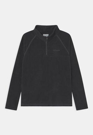 GLACIAL HALF ZIP UNISEX - Fleecová mikina - black