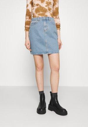 VIDERESSA SHORT SKIRT - Mini skirt - medium blue