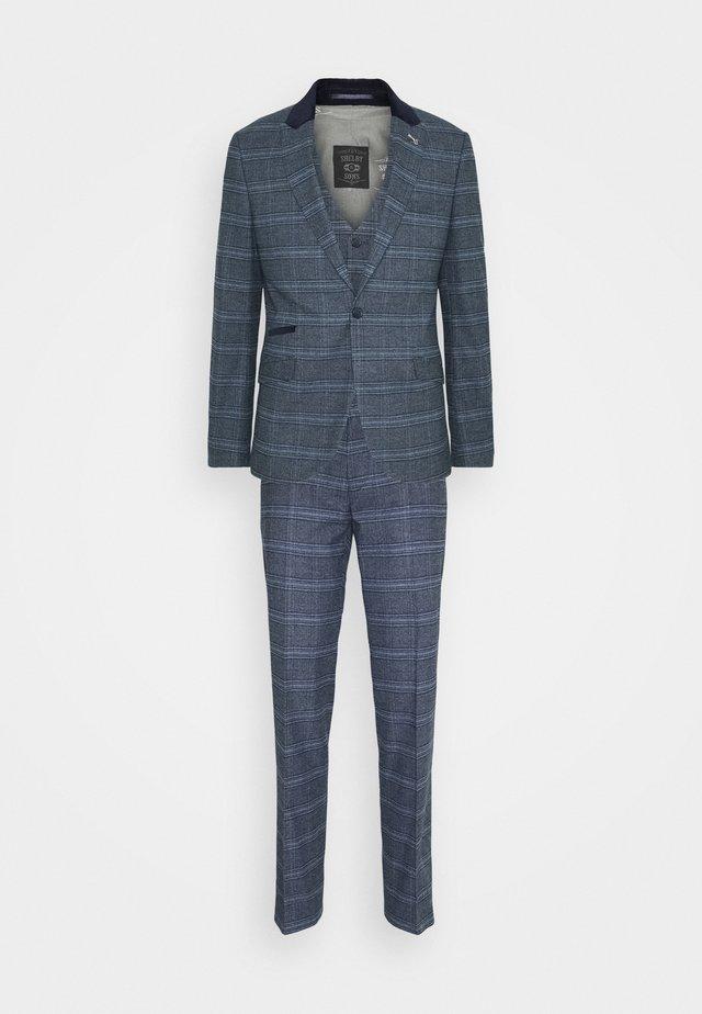 CAVAN - Kostuum - blue check