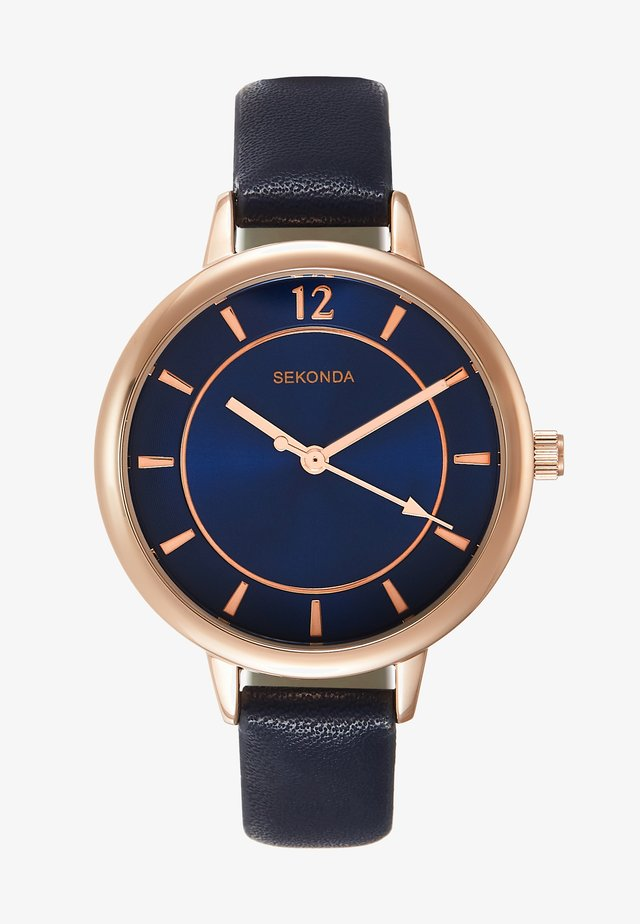 LADIES WATCH ROUND - Watch - dark blue