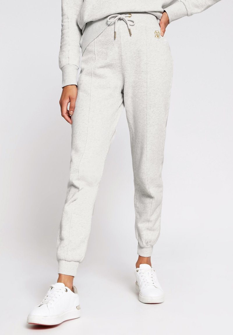 River Island - MARL SEAM DETAIL  - Tracksuit bottoms - grey