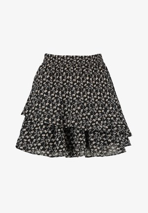 ROCK RILEY - A-line skirt - flower black