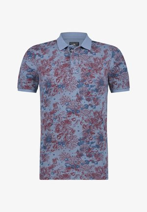 Poloshirt - grey blue/brick