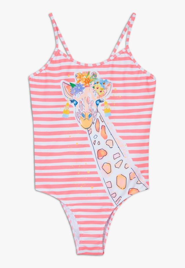 GIRLS GIRAFFE STRAPPY SWIMSUIT - Swimsuit - hot pink