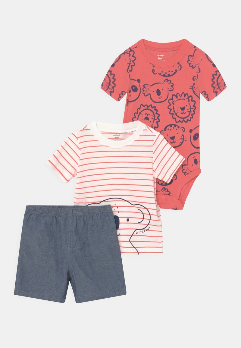 Carter's - KOALA STRIPE SET - Print T-shirt - red