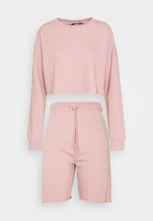 CROP CYCLING SHORT SET - Sweatshirt - dusky pink