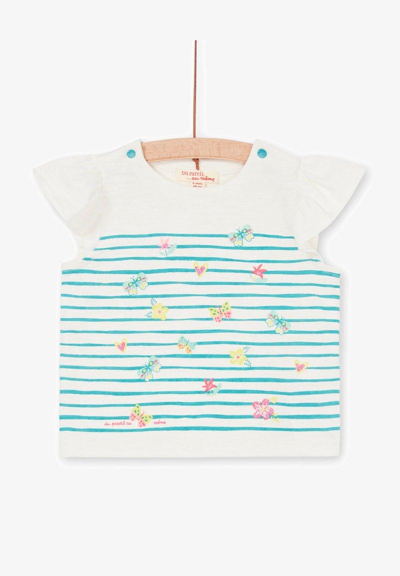 Du Pareil au Même - Print T-shirt - off white