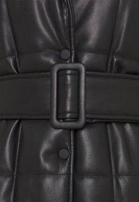 Topshop - QUILTED COAT - Classic coat - black - 2
