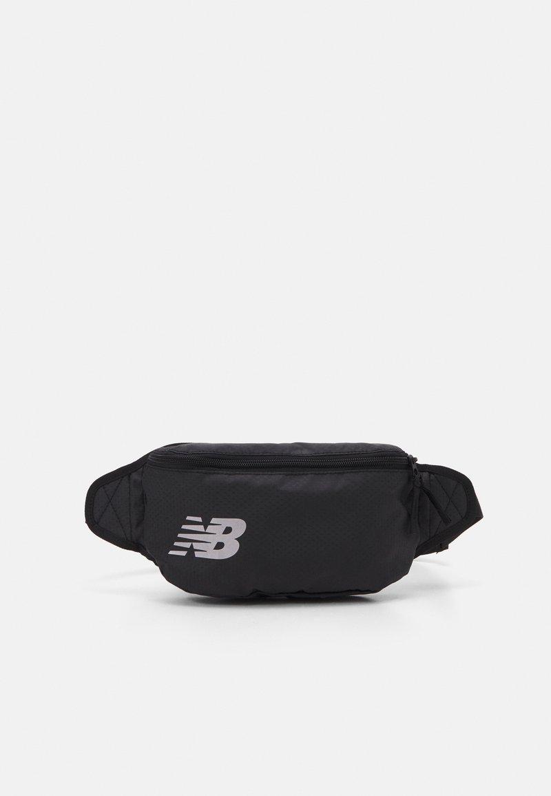 New Balance - IMPACT RUNNING WAIST PACK UNISEX - Bum bag - black/silver