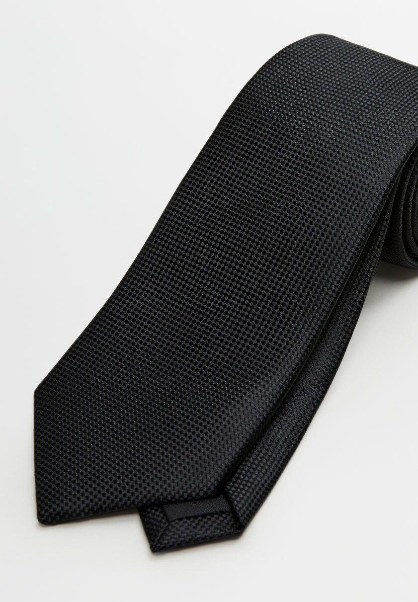 Mango Basic - Krawat Black