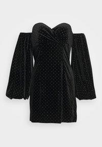 Missguided - PUFF SLEEVE MINI DRESS - Cocktail dress / Party dress - black - 5