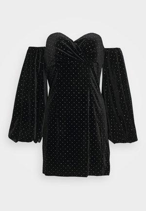 PUFF SLEEVE MINI DRESS - Cocktailkjole - black