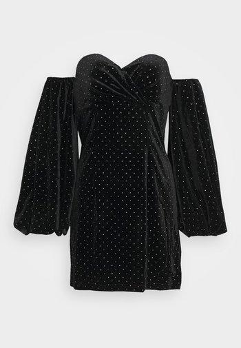 PUFF SLEEVE MINI DRESS - Cocktail dress / Party dress - black