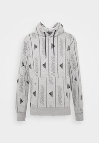 adidas Performance - Hoodie - medium grey heather/black - 3
