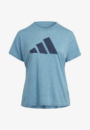 WIN 2.0 PRIMEGREEN PLUS SIZE - Camiseta estampada - blue