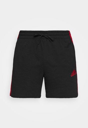Krótkie spodenki sportowe - black/scarlet