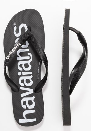 TOP LOGOMANIA UNISEX - Pool shoes - black