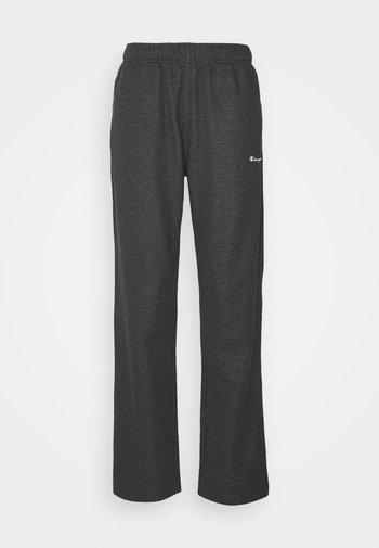 STRAIGHT HEM PANTS - Verryttelyhousut - mottled dark grey